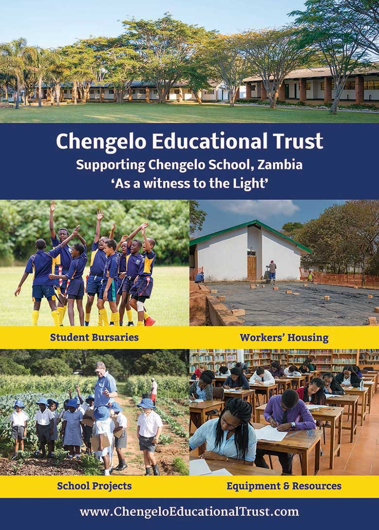 Chengelo Flyer Design for UK Charity School - Be Gallant