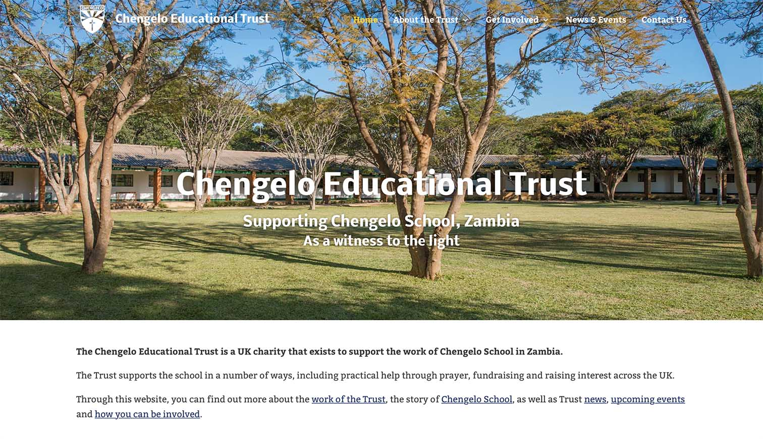 Chengelo Kent School Charity Website Development