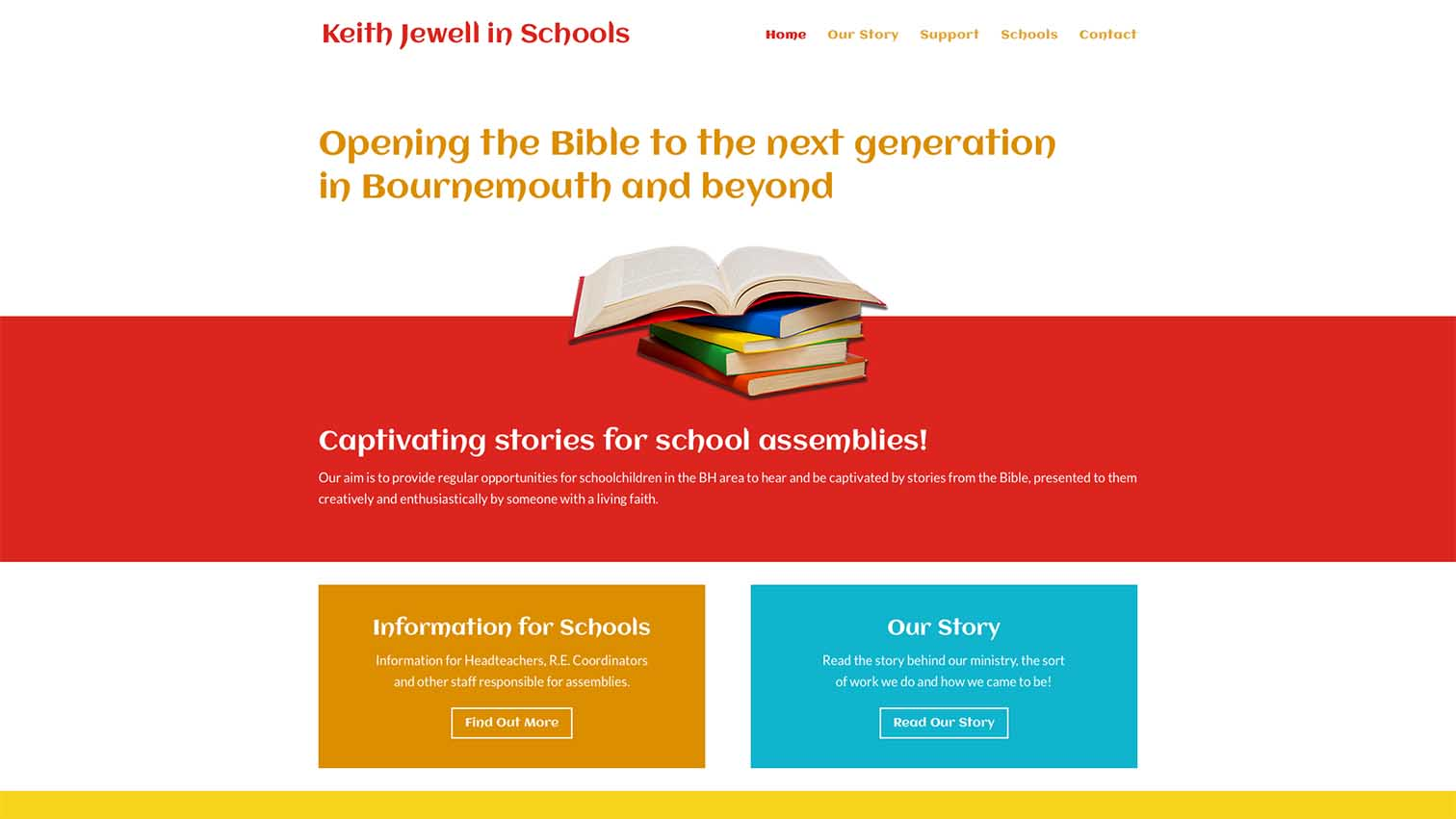 Christian Schools work charity design website - Be Gallant