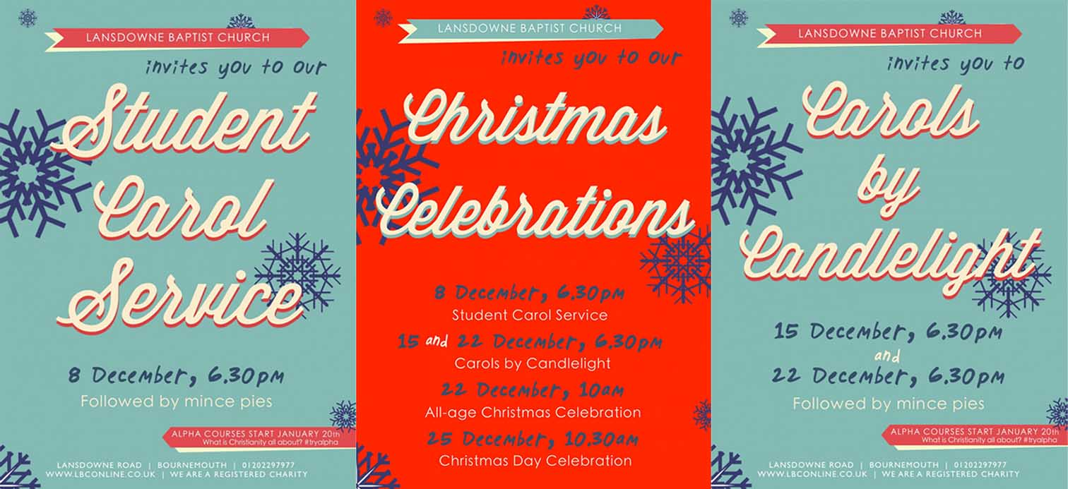 Christmas Carol Service Flyer Design - Be Gallant