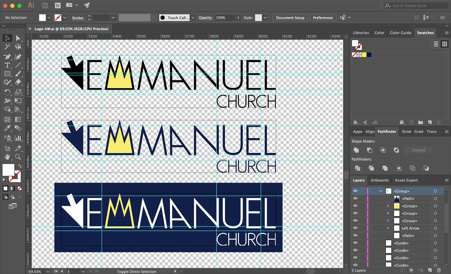 Church Logo Design Example In Progress Be Gallant