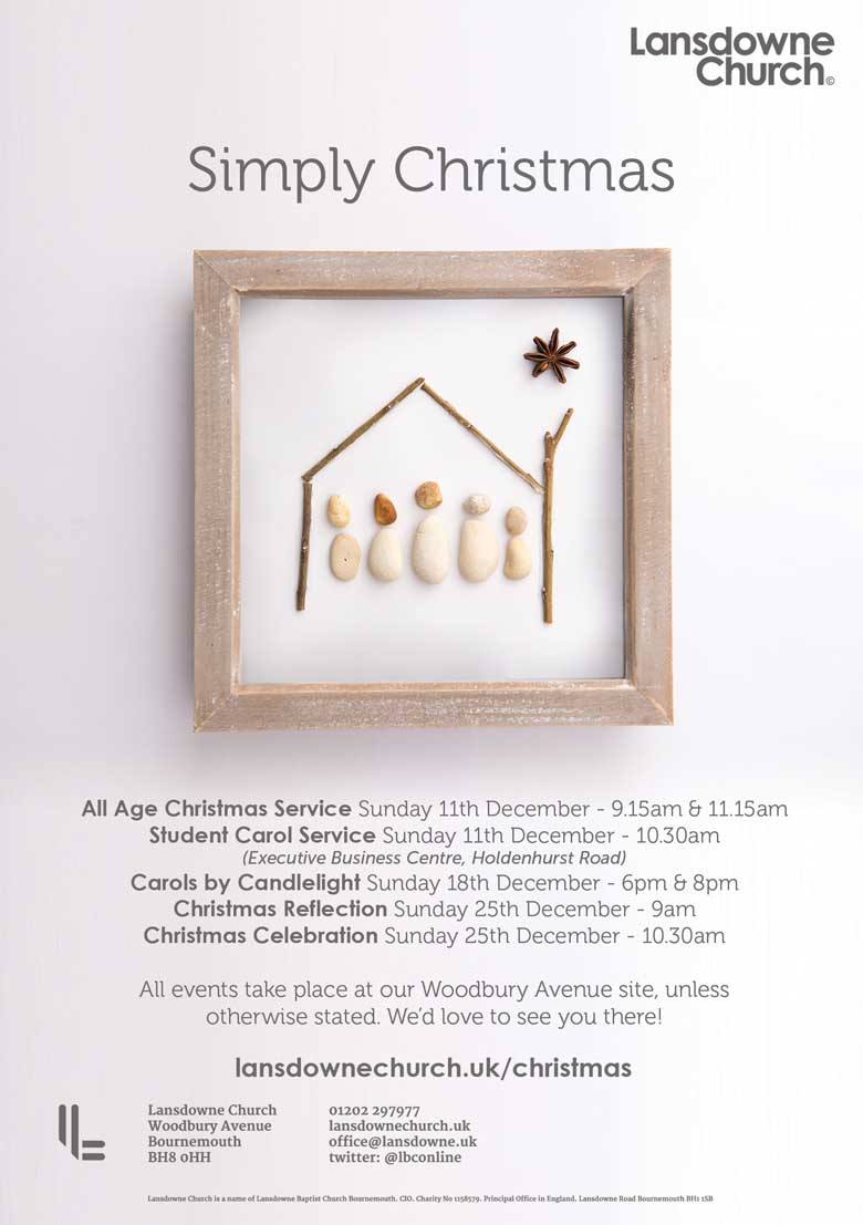 Simply Church Christmas Publicity Design Poster Flyer - Be Gallant