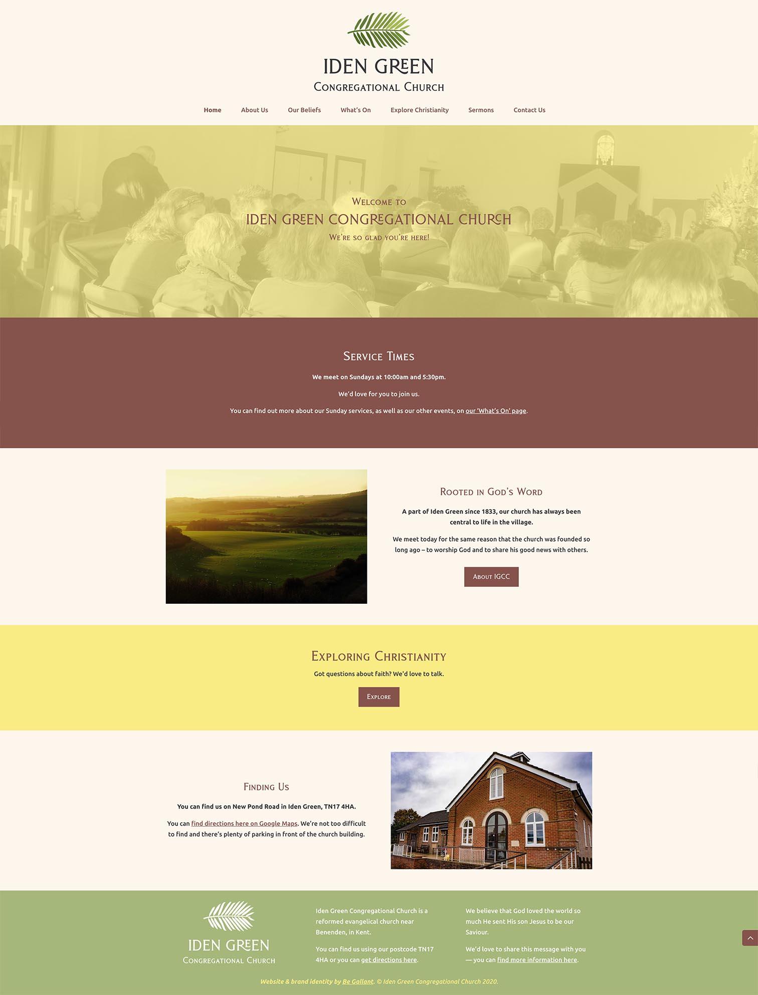 Emmanuel Church Logo Design UK - Be Gallant